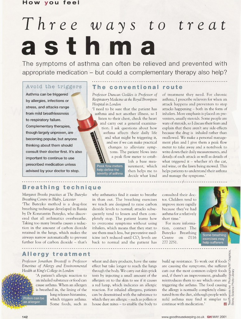 Good Housekeeping Asthma